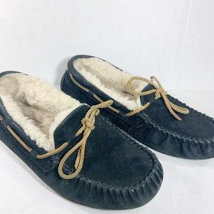 UGG Blue Moccasins Slippers Sz 8
